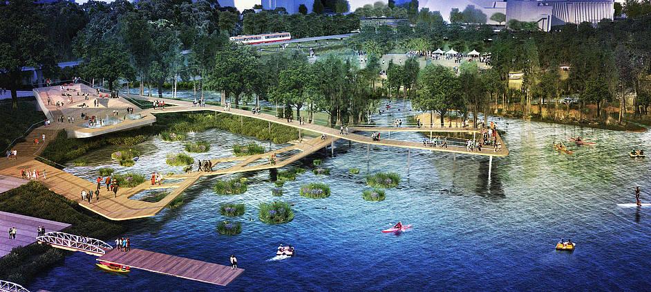 现代景观设计学(Landscape Architecture,以下简称LA),起源于美国。1900年,小弗雷德里克.劳.奥姆斯特德(F. L. Olmsted, Jr.)与舒克利夫(A. A. Sharcliff)在哈佛大学开设LA课程,并在全美首创4年制的LA理学学士学位,正式确立了其现代学科的地位。在美国,开设相关课程的学校有几十所之多,对于学生的选择范围也更加广泛。不同的学校在院系设置上也略有不同。如加州大学伯克利分校的环境设计学院是由LA与环境规划系(Department of Landsca
